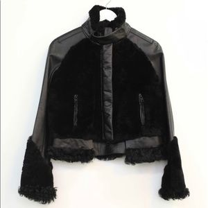 Givenchy SALE shearling and leather jacket